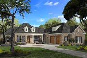 Southern Style House Plan - 4 Beds 2.5 Baths 2750 Sq/Ft Plan #430-49 Exterior - Front Elevation