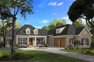 Southern Exterior - Front Elevation Plan #430-49