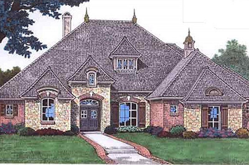 Dream House Plan - European Exterior - Front Elevation Plan #310-680