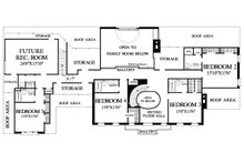 Upper level floor plan - 5800 square foot Southern home