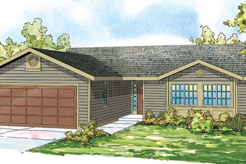 Traditional Exterior - Front Elevation Plan #124-871 - Houseplans.com