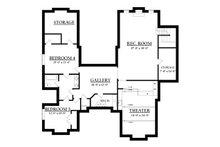 Country Floor Plan - Lower Floor Plan Plan #937-6