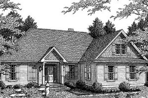 Architectural House Design - Traditional Exterior - Front Elevation Plan #41-145