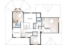 Traditional Floor Plan - Upper Floor Plan Plan #23-603