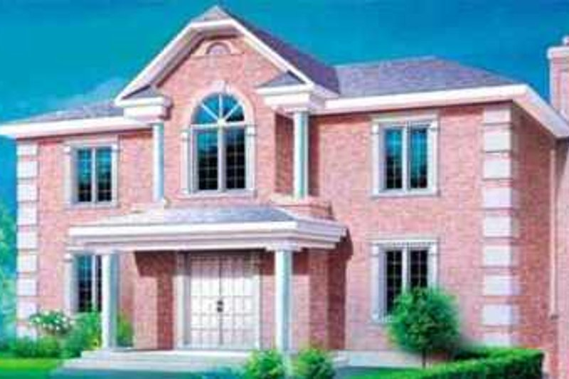 European Style House Plan - 4 Beds 1.5 Baths 3261 Sq/Ft Plan #25-2215 Exterior - Front Elevation