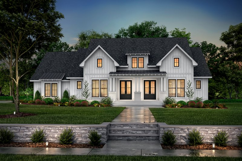 Dream House Plan - Farmhouse Exterior - Front Elevation Plan #430-249