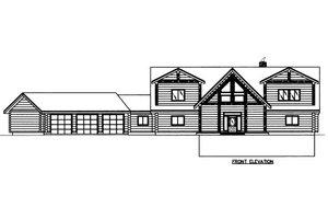 Log Exterior - Front Elevation Plan #117-605