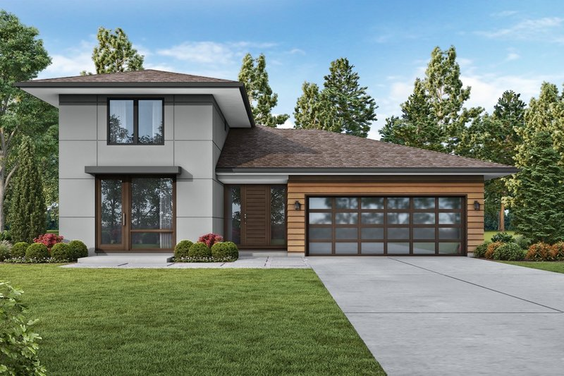 Dream House Plan - Contemporary Exterior - Front Elevation Plan #48-1023