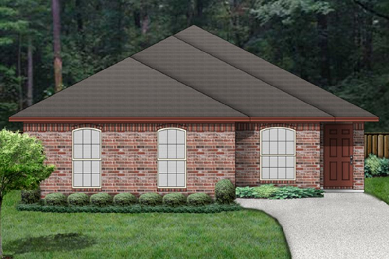 Traditional Style House Plan - 3 Beds 2 Baths 1235 Sq/Ft Plan #84-540 Exterior - Front Elevation
