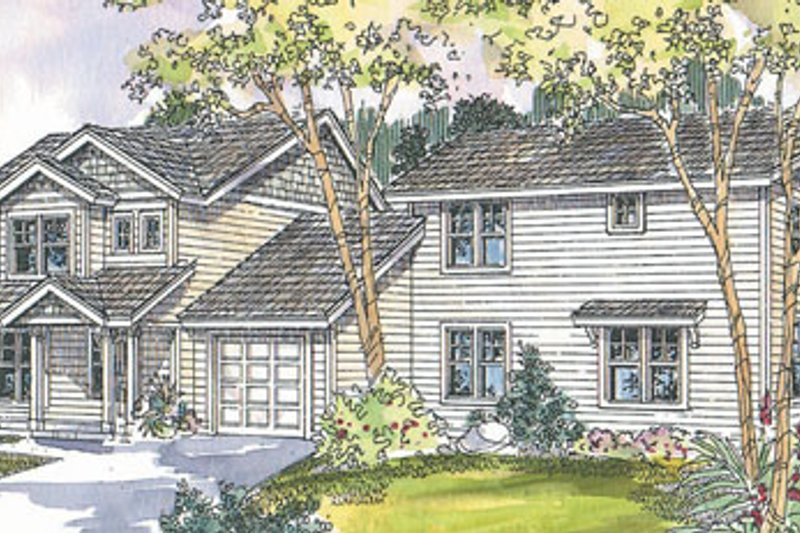 Dream House Plan - Exterior - Front Elevation Plan #124-815