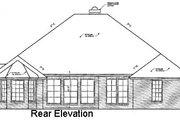 European Style House Plan - 3 Beds 2.5 Baths 2245 Sq/Ft Plan #310-318 Exterior - Rear Elevation