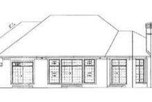 House Blueprint - Traditional Exterior - Rear Elevation Plan #72-166