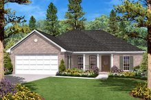 Home Plan - Ranch Exterior - Front Elevation Plan #430-9