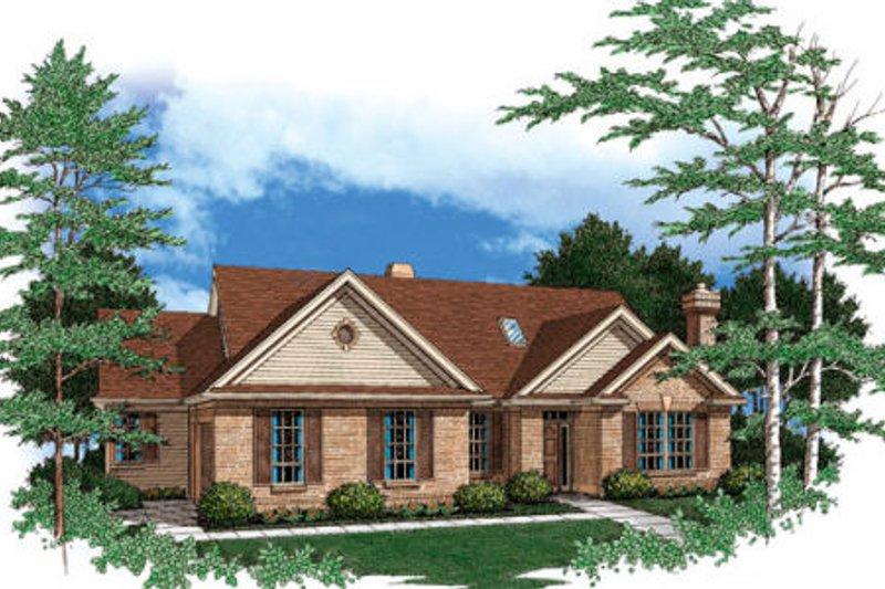 Craftsman Exterior - Front Elevation Plan #48-287