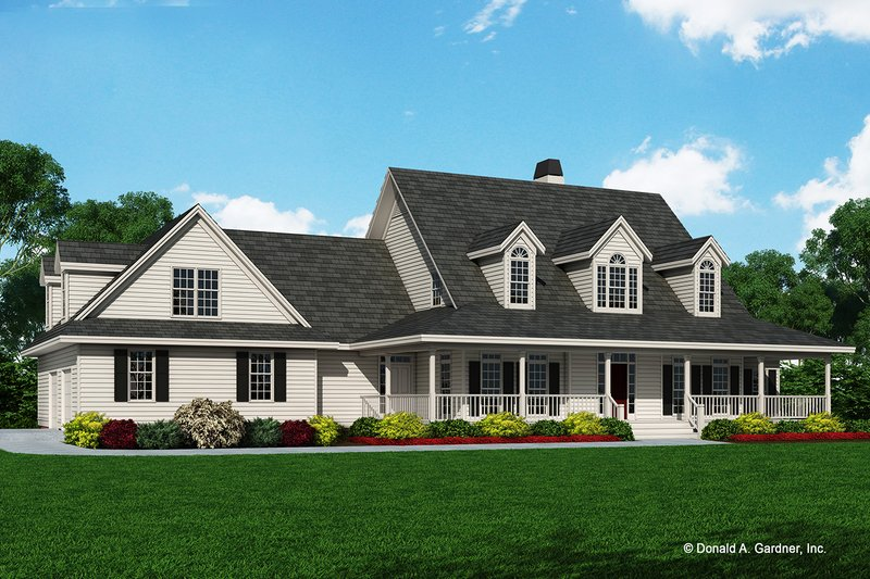 Country Exterior - Front Elevation Plan #929-288