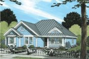 Traditional Style House Plan - 4 Beds 2 Baths 1481 Sq/Ft Plan #20-1883 Exterior - Front Elevation