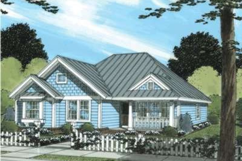 Home Plan - Traditional Exterior - Front Elevation Plan #20-1883