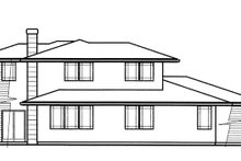 Prairie Exterior - Rear Elevation Plan #509-78