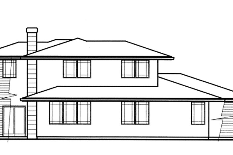 Prairie Exterior - Rear Elevation Plan #509-78 - Houseplans.com