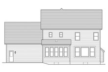Colonial Exterior - Rear Elevation Plan #1010-120