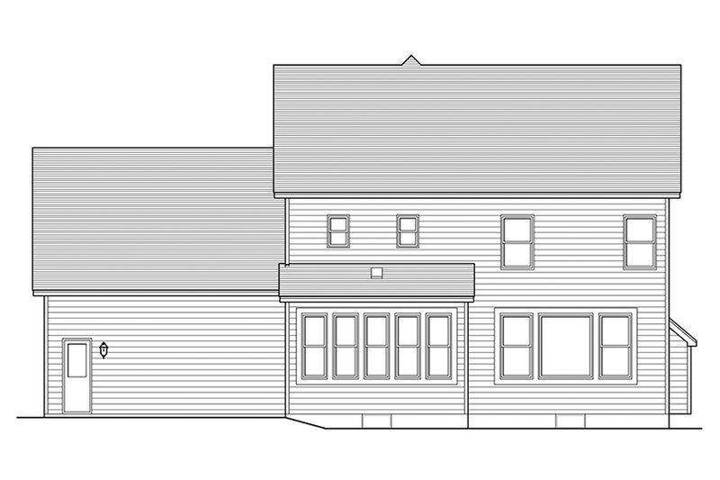 Colonial Exterior - Rear Elevation Plan #1010-120 - Houseplans.com