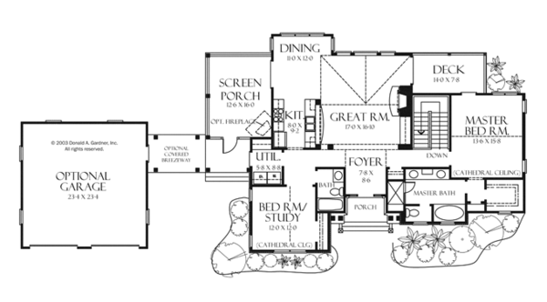 Craftsman Floor Plan - Main Floor Plan Plan #929-945