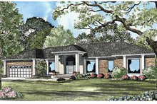 Home Plan - Contemporary Exterior - Front Elevation Plan #17-3120