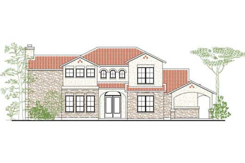 Dream House Plan - European Exterior - Front Elevation Plan #80-171