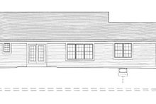 Home Plan - Cottage Exterior - Rear Elevation Plan #46-410