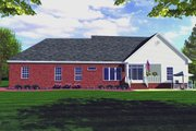 Country Style House Plan - 3 Beds 2.5 Baths 1800 Sq/Ft Plan #21-152 Exterior - Rear Elevation