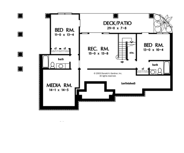 Craftsman Floor Plan - Other Floor Plan Plan #929-902