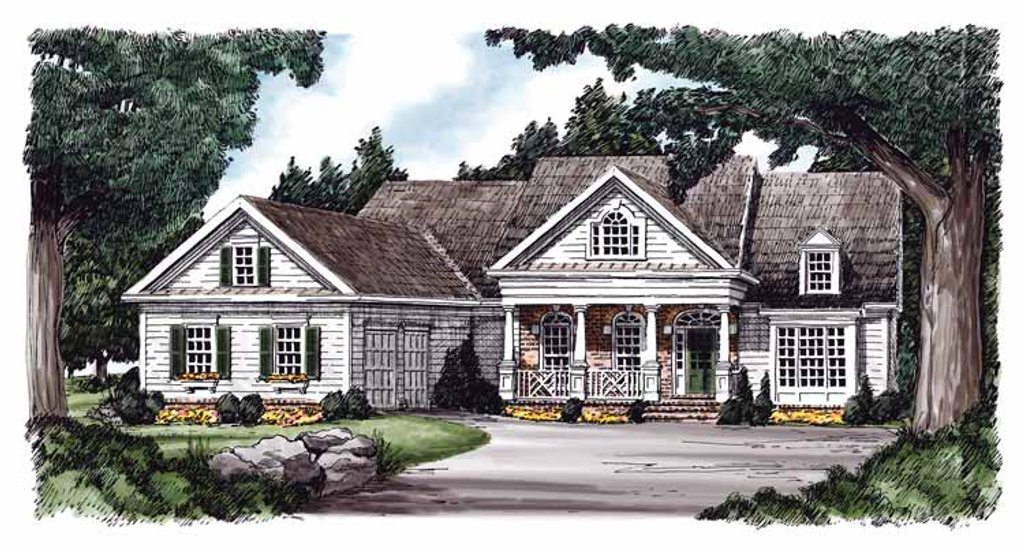 Country Exterior Front Elevation Plan 927 596