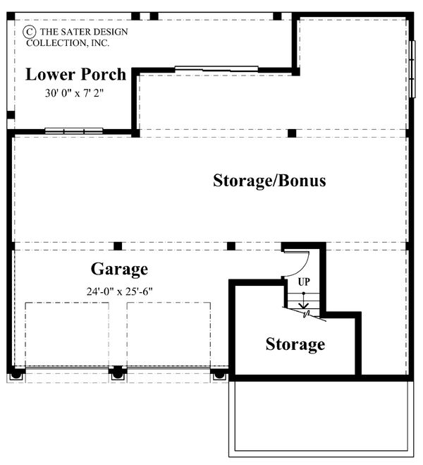 Mediterranean Floor Plan - Lower Floor Plan Plan #930-16