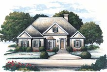 Home Plan Design - Colonial Exterior - Front Elevation Plan #429-117