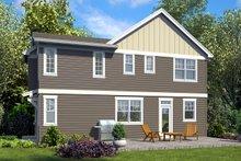 House Plan Design - Craftsman Exterior - Rear Elevation Plan #48-930