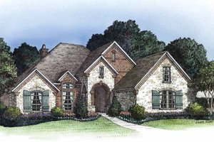 Country Exterior - Front Elevation Plan #946-14