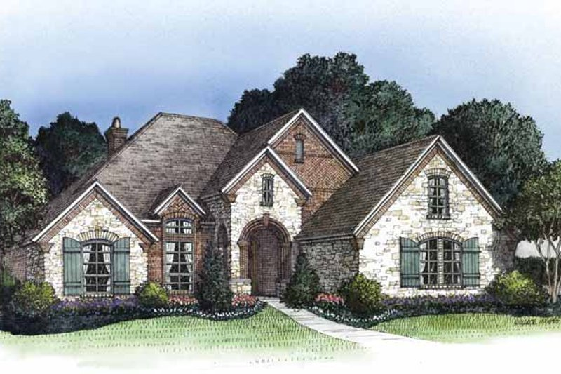 Home Plan - Country Exterior - Front Elevation Plan #946-14
