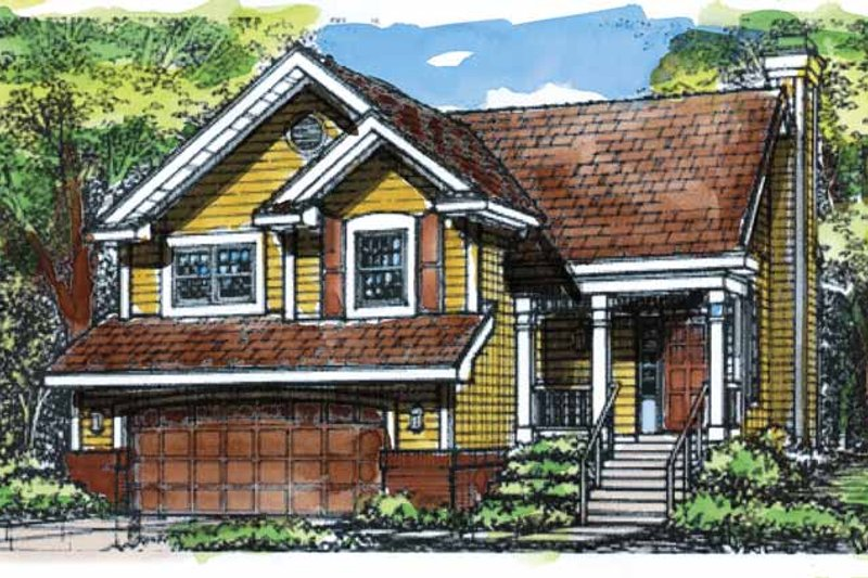 Architectural House Design - Country Exterior - Front Elevation Plan #320-630
