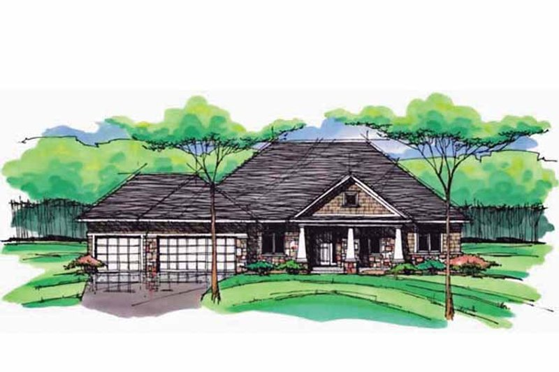 European Exterior - Front Elevation Plan #51-993 - Houseplans.com