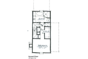Cottage Style House Plan - 2 Beds 2 Baths 963 Sq/Ft Plan #464-6 Floor Plan - Upper Floor Plan