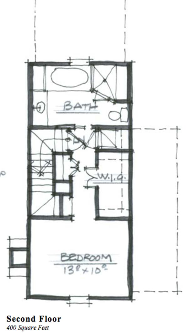 Cottage Floor Plan - Upper Floor Plan Plan #464-6