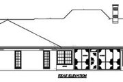 European Style House Plan - 3 Beds 2.5 Baths 2349 Sq/Ft Plan #36-208 Exterior - Rear Elevation