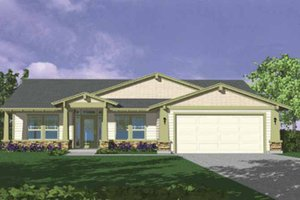 Architectural House Design - Country Exterior - Front Elevation Plan #509-143