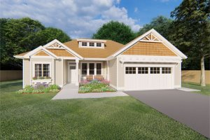 Craftsman Exterior - Front Elevation Plan #126-183