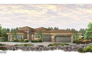 Mediterranean Style House Plan - 4 Beds 3.5 Baths 3443 Sq/Ft Plan #24-249 Exterior - Front Elevation
