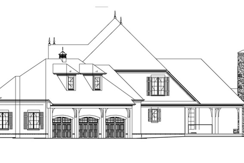 European Exterior - Other Elevation Plan #17-3328 - Houseplans.com