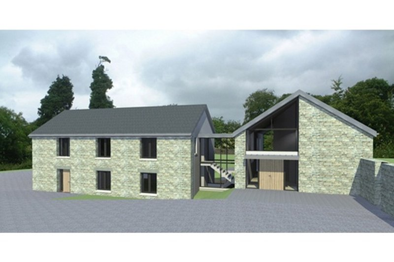 European Style House Plan - 4 Beds 2 Baths 3904 Sq/Ft Plan #520-10
