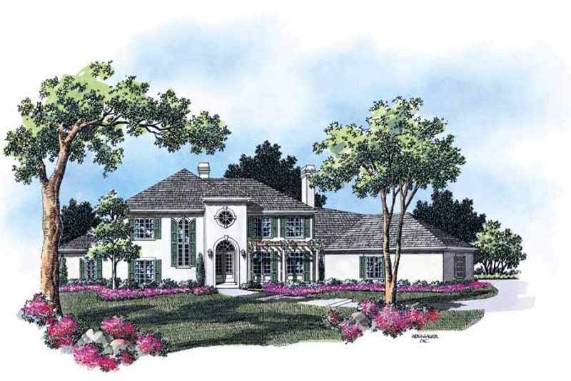 Dream House Plan - Mediterranean Exterior - Front Elevation Plan #48-769