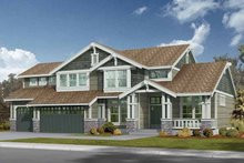 Architectural House Design - Craftsman Exterior - Front Elevation Plan #132-234