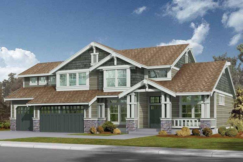 Craftsman Exterior - Front Elevation Plan #132-234 - Houseplans.com